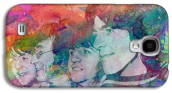 Ringo Starr Paintings Galaxy S4 Cases - The Beatles Original Painting Print Galaxy S4 Case by Ryan RockChromatic