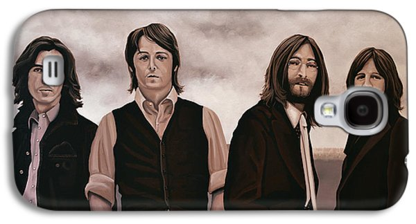 Yellow Paintings Galaxy S4 Cases - The Beatles Galaxy S4 Case by Paul  Meijering