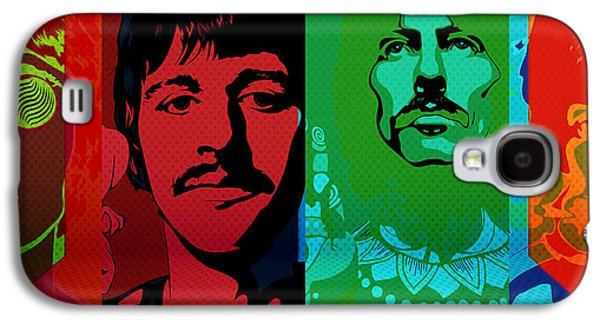 Beatles Photographs Galaxy S4 Cases - The Beatles psychedelic  Galaxy S4 Case by Jerry Cordeiro