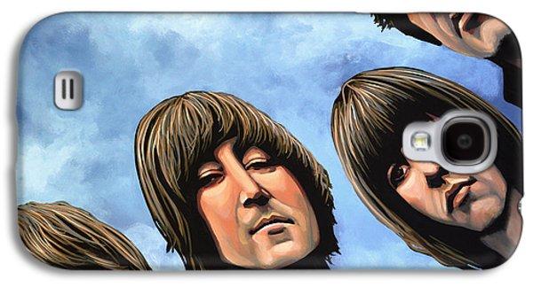 John Lennon Galaxy S4 Cases - The Beatles Rubber Soul Galaxy S4 Case by Paul  Meijering