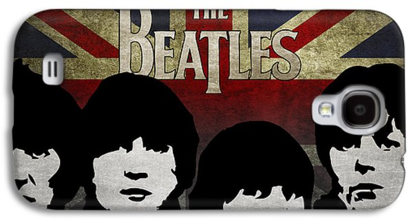 Beatles Galaxy S4 Cases - The Beatles silhouettes Galaxy S4 Case by Aged Pixel