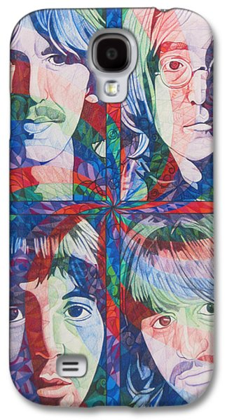 Rocks Drawings Galaxy S4 Cases - The Beatles Squared Galaxy S4 Case by Joshua Morton