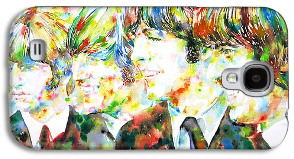 Fab Four Galaxy S4 Cases - THE BEATLES - watercolor portrait.2 Galaxy S4 Case by Fabrizio Cassetta