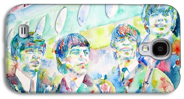 Fab Four Galaxy S4 Cases - THE BEATLES - watercolor portrait.3 Galaxy S4 Case by Fabrizio Cassetta