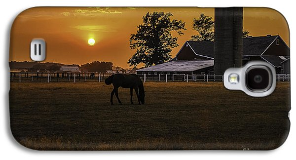 A Summer Evening Landscape Galaxy S4 Cases - The Beauty of a Rural Sunset Galaxy S4 Case by Mary Carol Story