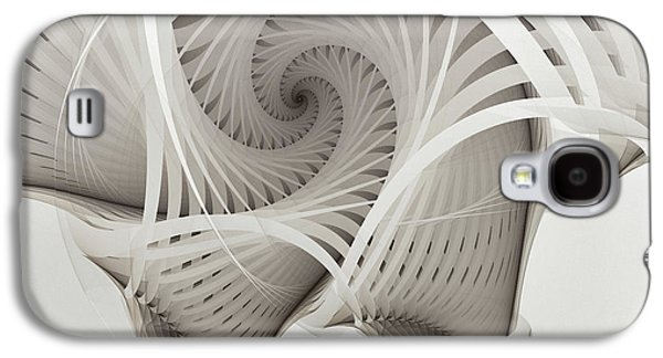 Mathematical Design Galaxy S4 Cases - The Beauty of Math-Fractal Art Galaxy S4 Case by Karin Kuhlmann