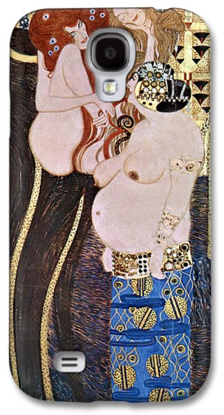 Woman In A Dress Galaxy S4 Cases - The Beethoven Frieze Galaxy S4 Case by Gustive Klimt