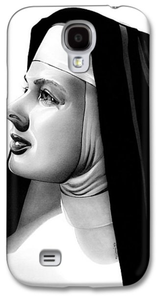 Sisters Drawings Galaxy S4 Cases - The Bells of St. Marys Sister Mary Benedict Galaxy S4 Case by Fred Larucci