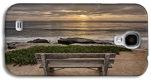 Beach Landscape Galaxy S4 Cases - The Bench III Galaxy S4 Case by Peter Tellone