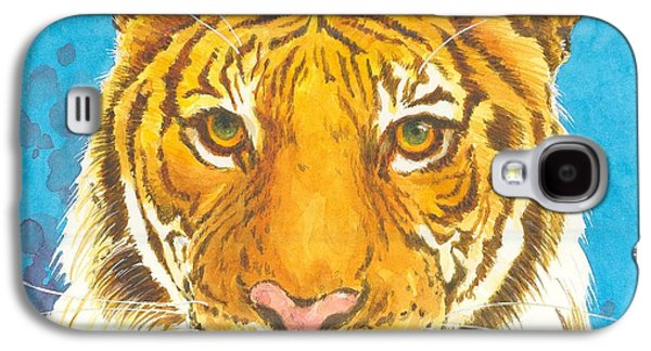 The Tiger Paintings Galaxy S4 Cases - The Bengal Tiger Galaxy S4 Case by Joyce Hensley