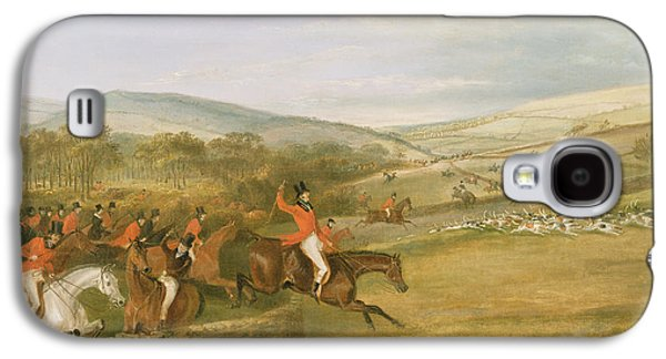 Hounds Galaxy S4 Cases - The Berkeley Hunt, Full Cry, 1842 Oil On Canvas Galaxy S4 Case by Francis Calcraft Turner