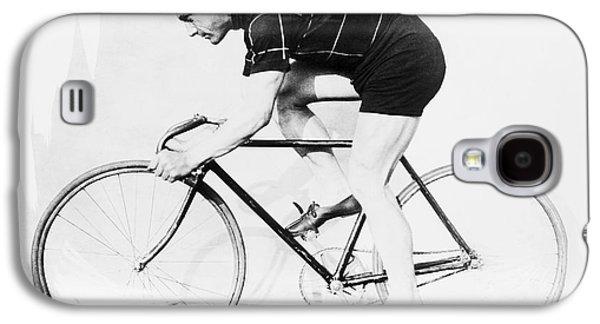 The Bicyclist - 1914 Galaxy S4 Case by Daniel Hagerman