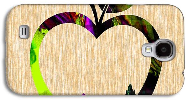 Apple Galaxy S4 Cases - The Big Apple New York Skyline Galaxy S4 Case by Marvin Blaine