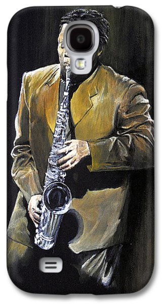 E Street Band Paintings Galaxy S4 Cases - The Big Man - Clarence Clemons Galaxy S4 Case by William Walts
