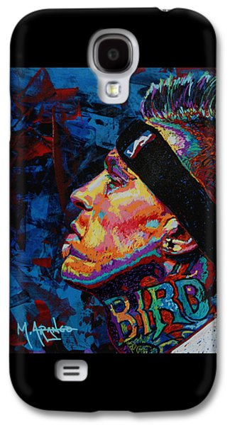 Nba Paintings Galaxy S4 Cases - The Birdman Chris Andersen Galaxy S4 Case by Maria Arango