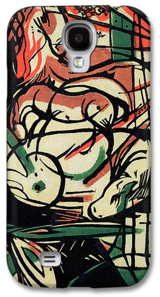 Abstract Forms Drawings Galaxy S4 Cases - The Birth of the Horse Galaxy S4 Case by Franz Marc
