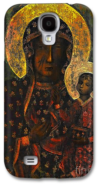 Holy Galaxy S4 Cases - The Black Madonna Galaxy S4 Case by Andrzej Szczerski