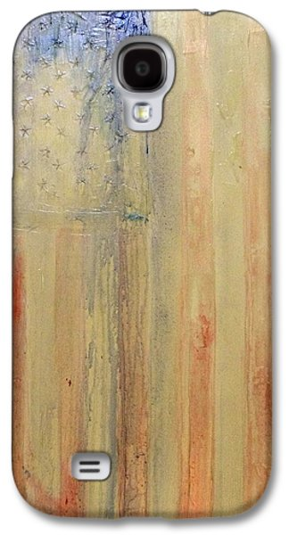 4th July Mixed Media Galaxy S4 Cases - The Bleeding Of America Galaxy S4 Case by Charles Jos Biviano