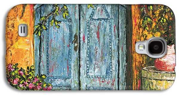 Old Pitcher Paintings Galaxy S4 Cases - The Blue Door Galaxy S4 Case by Darice Machel McGuire