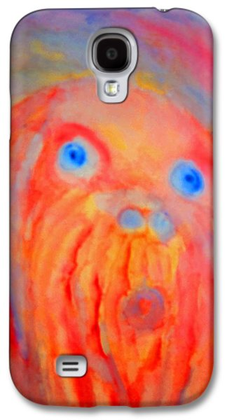 Component Paintings Galaxy S4 Cases - The Blue Eyed Hulder Galaxy S4 Case by Hilde Widerberg