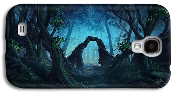 Phantasie Digital Art Galaxy S4 Cases - The Blue Forest Galaxy S4 Case by Cassiopeia Art