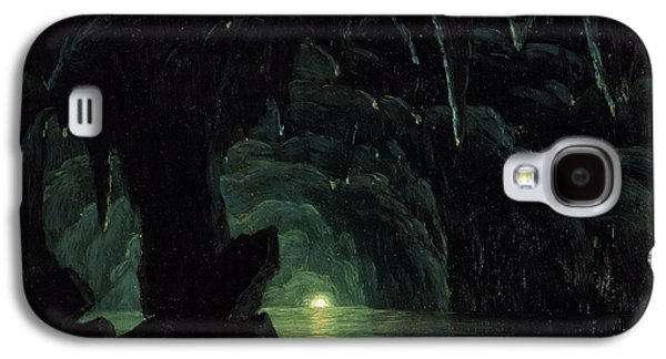 The Blue Grotto Galaxy S4 Case by Albert Bierstadt