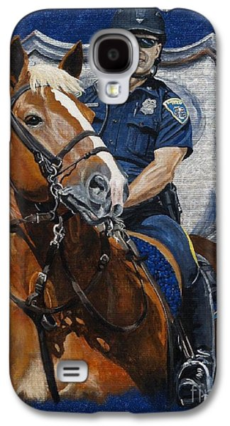 Police Paintings Galaxy S4 Cases - the Blue Knight Galaxy S4 Case by Pat DeLong