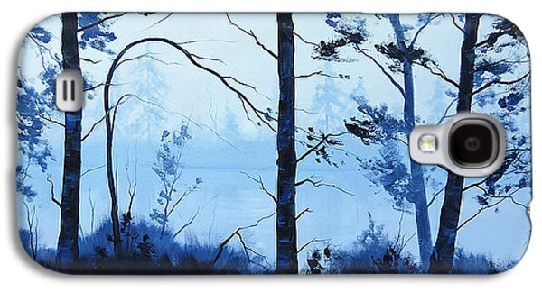 Beautiful Creek Paintings Galaxy S4 Cases - The Blue Lake Galaxy S4 Case by Graham Gercken