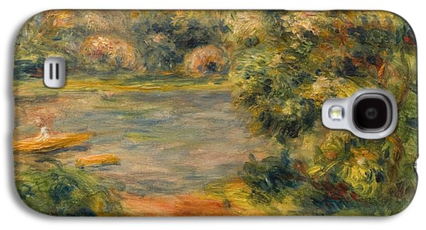 Posters On Paintings Galaxy S4 Cases - The Boat on the Lake Galaxy S4 Case by Pierre Auguste Renoir