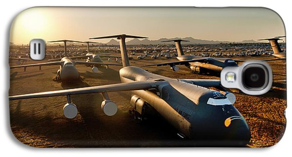 Not In Use Galaxy S4 Cases - The Boneyard - Davis-Monthan AFB Galaxy S4 Case by Mountain Dreams