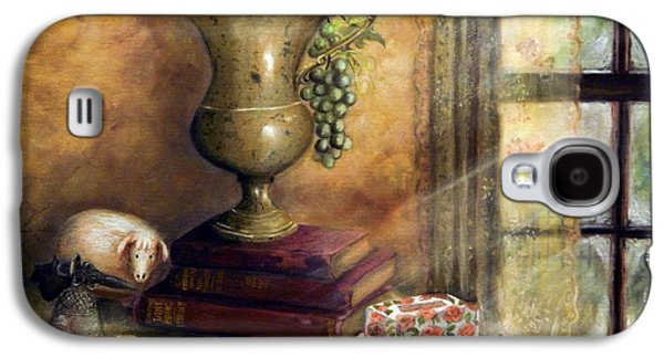 Old Pitcher Paintings Galaxy S4 Cases - The Books By The Window Galaxy S4 Case by Sandra Aguirre