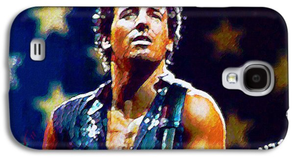 Bruce Springsteen Digital Galaxy S4 Cases - The Boss Galaxy S4 Case by John Travisano