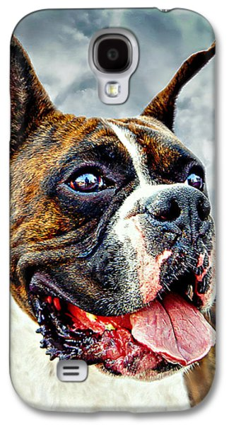 Boxer Digital Art Galaxy S4 Cases - The Boxer Galaxy S4 Case by Ian Gledhill