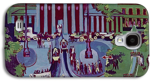 Berlin Germany Paintings Galaxy S4 Cases - The Brandenburg Gate Berlin Galaxy S4 Case by Ernst Ludwig Kirchner
