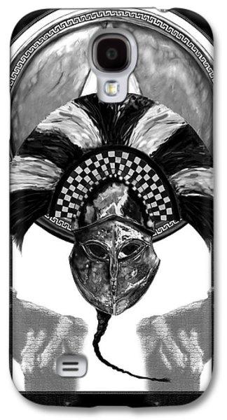 Shield Digital Art Galaxy S4 Cases - The Brave 300 Galaxy S4 Case by Matt Kedzierski