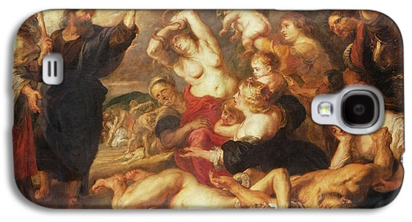 Biting Galaxy S4 Cases - The Brazen Serpent, C.1635-40 Oil On Canvas Galaxy S4 Case by Peter Paul Rubens
