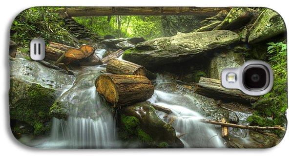 Gatlinburg Galaxy S4 Cases - The Bridge at Alum Cave Galaxy S4 Case by Debra and Dave Vanderlaan