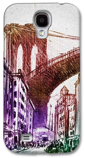 Brooklyn Bridge Digital Galaxy S4 Cases - The Brooklyn Bridge Galaxy S4 Case by Aged Pixel