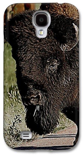 Bison Digital Art Galaxy S4 Cases - The Buffalo Digital Art Galaxy S4 Case by Ernie Echols