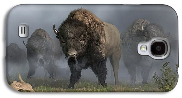 Stampede Digital Art Galaxy S4 Cases - The Buffalo Vanguard Galaxy S4 Case by Daniel Eskridge