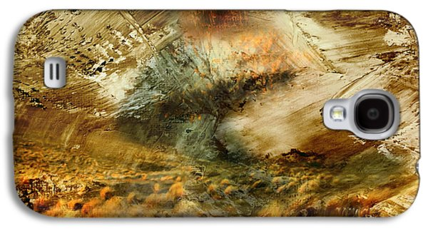 Abstract Digital Mixed Media Galaxy S4 Cases - The Burning Bush - Abstract Realism Galaxy S4 Case by Georgiana Romanovna