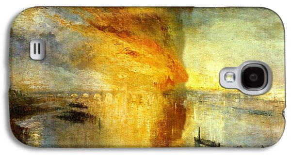 Nature Scene Drawings Galaxy S4 Cases - The Burning of the Houses of Lords and Commons Galaxy S4 Case by Joseph Mallord William Turner