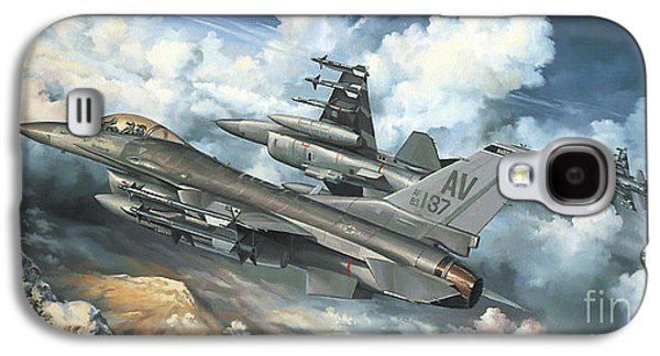 Dogfight Galaxy S4 Cases - The Buzzard Boys From Aviano Galaxy S4 Case by Randy Green