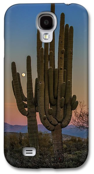 Moonrise Galaxy S4 Cases - Moonrise Over Tonto Galaxy S4 Case by Rick Berk
