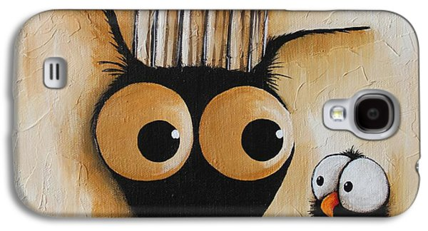 Cage Paintings Galaxy S4 Cases - The cage Galaxy S4 Case by Lucia Stewart