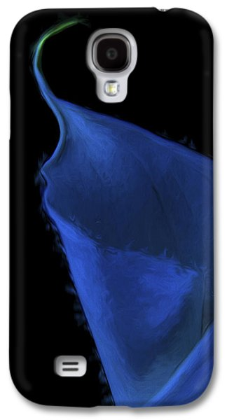 Calla Lilly Galaxy S4 Cases - The Calla Lily Flower Painted Digitally in Blue Green Galaxy S4 Case by David Haskett