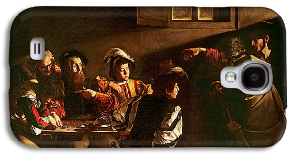 Religious Galaxy S4 Cases - The Calling of St Matthew Galaxy S4 Case by Michelangelo Merisi o Amerighi da Caravaggio