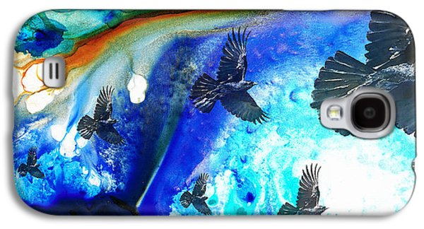 The Calling - Raven Crow Art By Sharon Cummings Galaxy S4 Case by Sharon Cummings