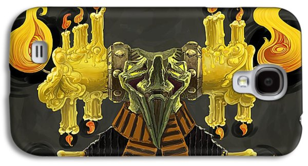 Monster Galaxy S4 Cases - The Candle Man Galaxy S4 Case by Augustinas Raginskis