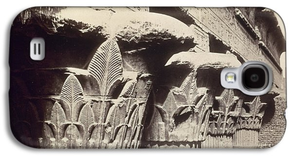 Columns Galaxy S4 Cases - The Capitals of the Portico of the Temple of Khnum in Esna Galaxy S4 Case by Francis Bedford